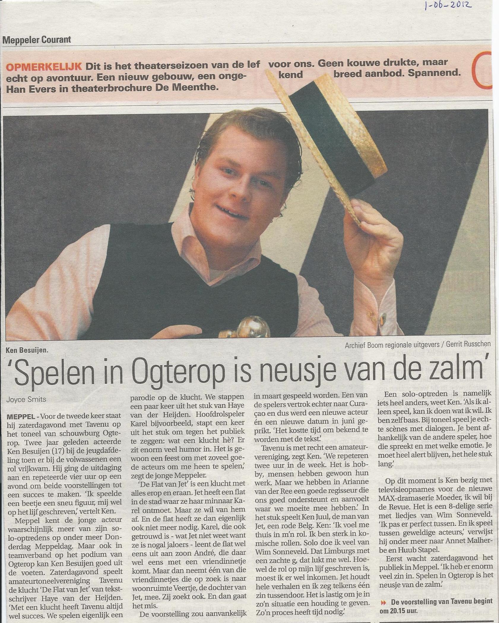 01-06-2012 Interview voorafgaand De Flat van Jet