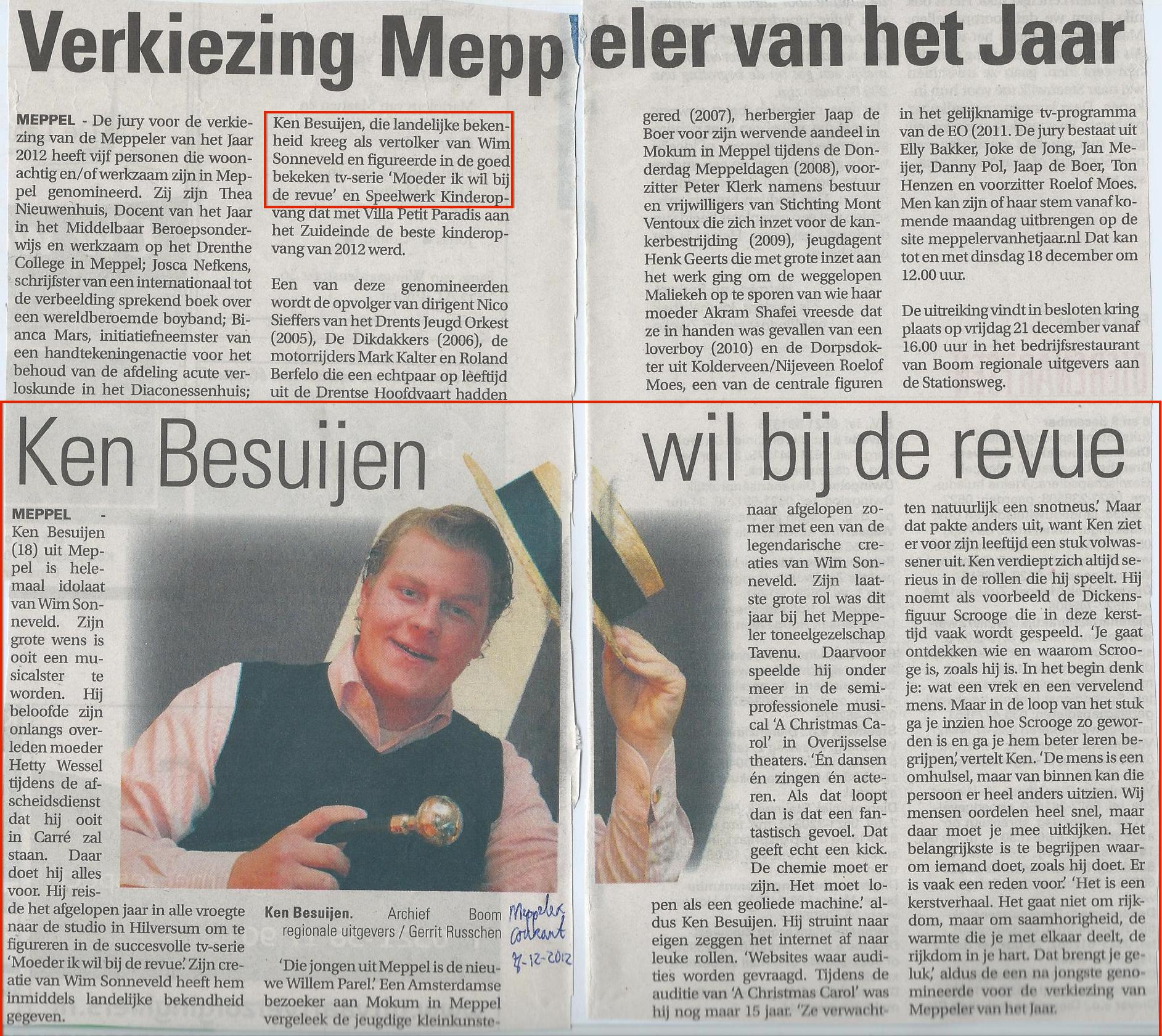 07-12-2012 Verhaaltje Meppeler van het jaar