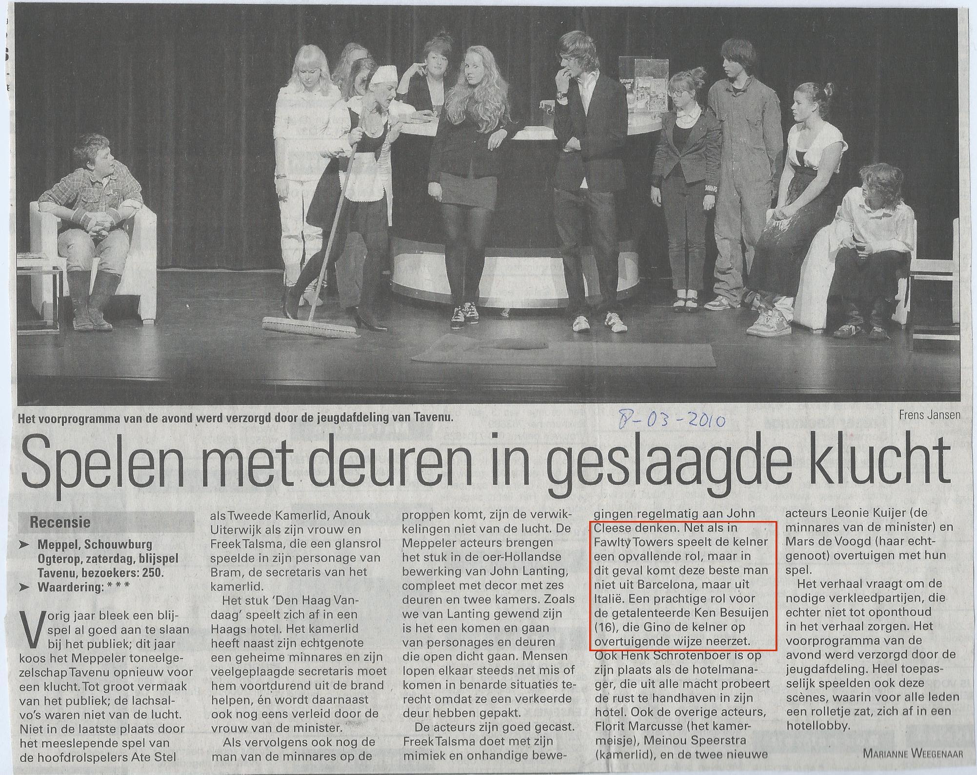 08-03-2010 Recensie Den Haag Vandaag