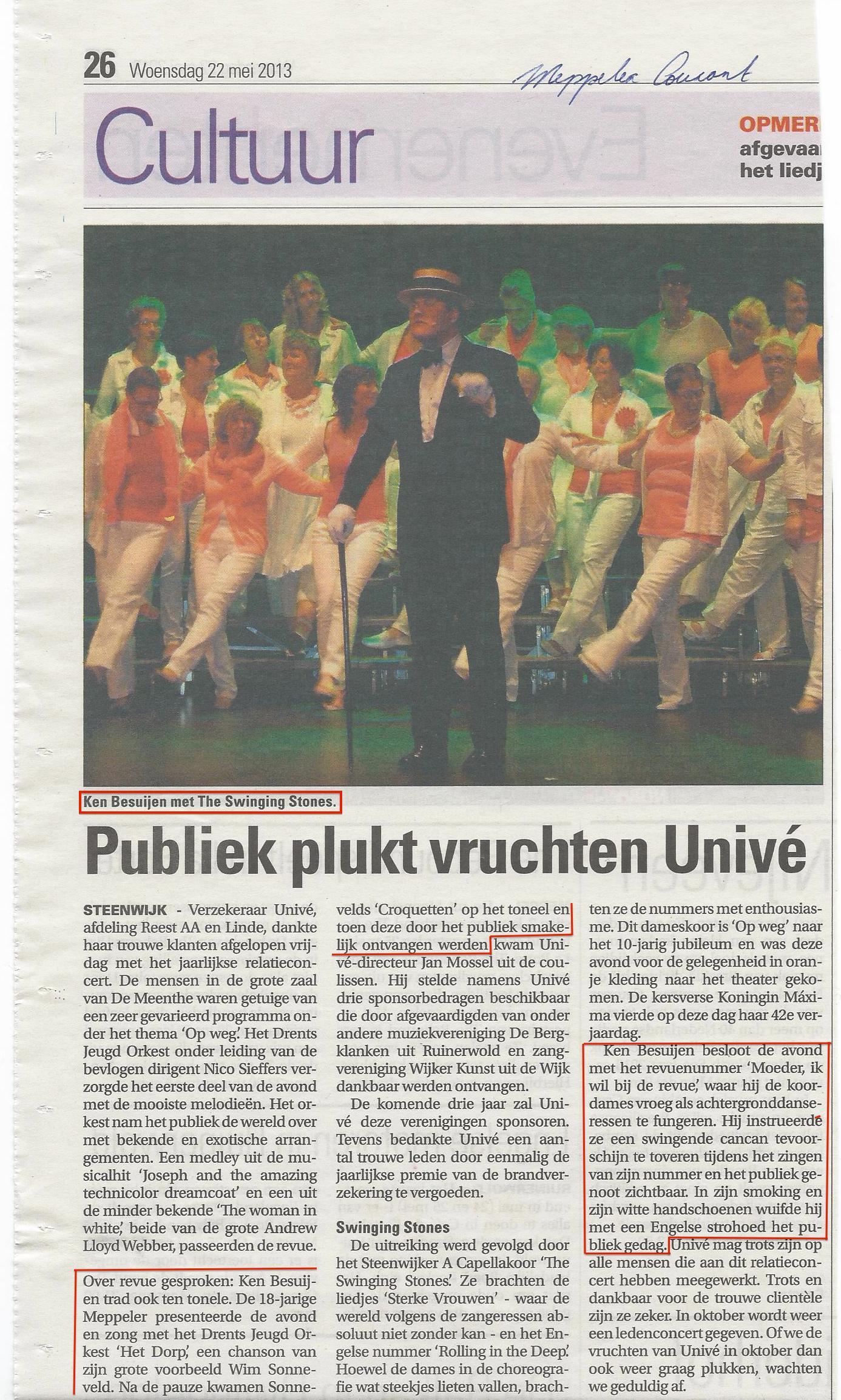 22-05-2013 Recensie concert Univé