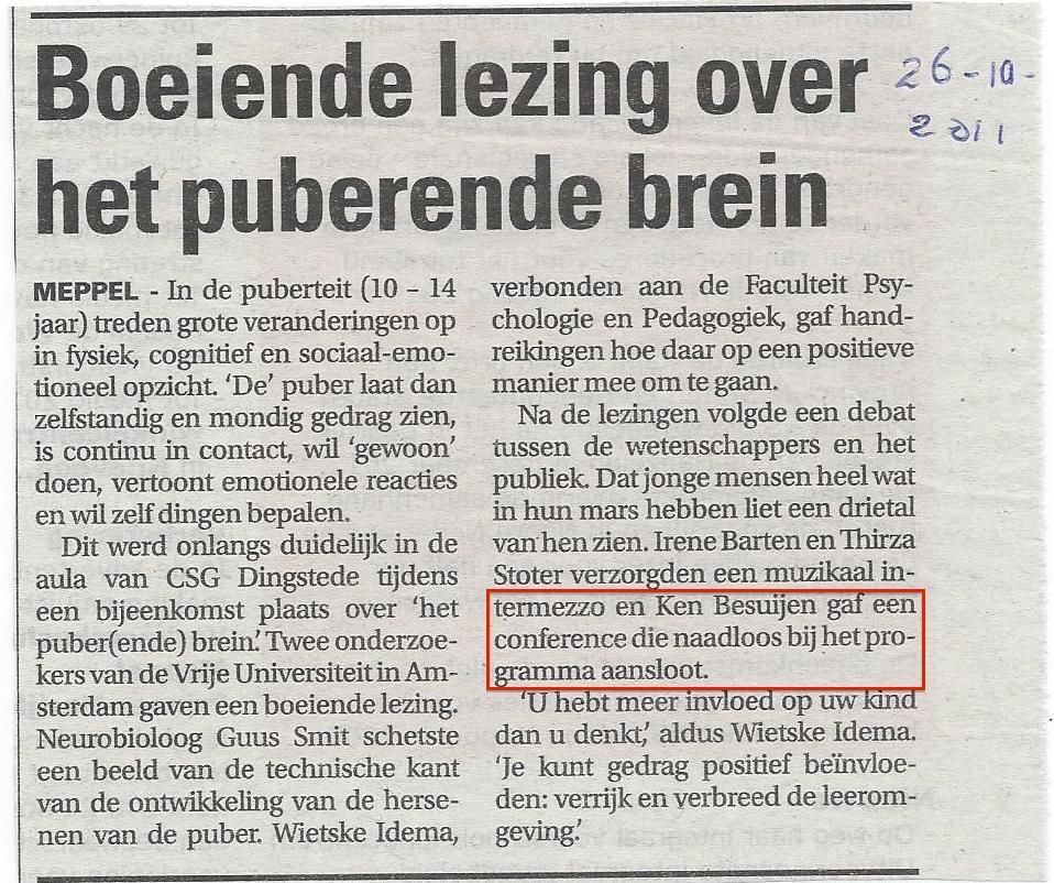 26-10-2011 Puberende brein